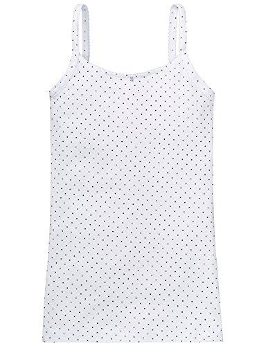 Schiesser Mädchen Spaghetti Top Unterhemd, Weiß (weiss 100), 152