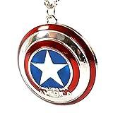 Marvel - Ciondolo con scudo di Captain America - Collana ispirata agli eroi degli Avengers, per Cosplay
