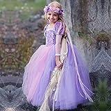 Ebay Amazon Taobao Exploded Purple Long Hair Princess Dress Dress Lantern Sleeves Christmas Dress Suit a Custom