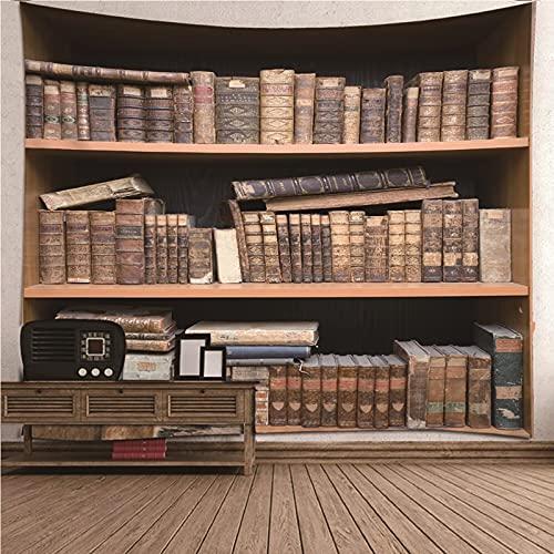 KnBoB Tapiz Decorativo Pared Estante para Libros 210x140 CM Tapiz Poliéster Impermeable Decoracion Hogar