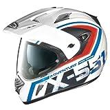 X-Lite X de 551gt Adventure Enduro Casco Moto Ligero de Fibra N- Com–Blanco Rojo Azul Tamaño 2X L