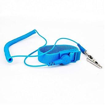Correa antiest/ática de descarga ESD Silicona azul beb/é IIVVERR ESD Discharge Anti-static Wrist Strap Baby Blue Silicone