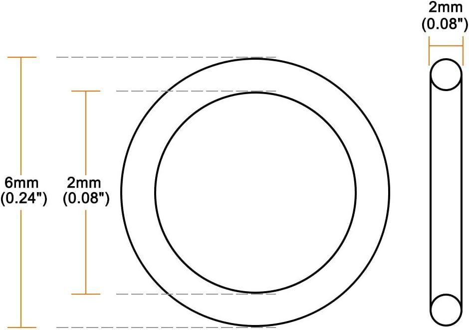 sourcing map Juntas T/óricas de Goma de Nitrilo 14mm x 20mm x 3mm Retenes juntas de estanqueidad 5pcs