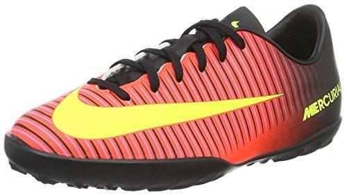 Nike Jr Mercurial Vapor XI Turf, Scarpe da Calcio Unisex-Adulto, Multicolore (Schwarz/Total Crimson/Pink), 36 EU
