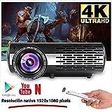 Seelumen 6500 Lúmenes Proyector Full HD 1080P (1920 x 1080) Proyector Cine en Casa con Corrección Digital, Android 6.0, AC3, Compatible con Netflix, Kodi, Playstore, Bluetooth, WiFi 5G, 200' (Negro)