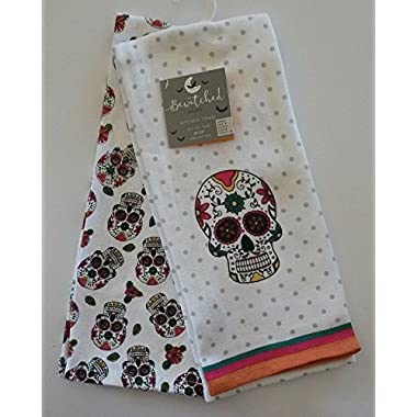 Bewitched Sugar Skull Kitchen Towels - Set of 2