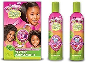Dream Kids Detangler Miracle Reversible Straightening Texture Manageability Set Of 3 Products