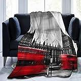 SURERUIM Soft Fleece Throw Blanket,Autobus Passant Big Ben Angleterre Cityscape London Landmark Modern,Home Hotel Sofá Cama Sofá Mantas para Parejas Niños Adultos,150x200cm