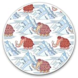 Impresionantes pegatinas de vinilo (juego de 2) 15 cm – Wooly Mammoth Ice Age calcomanías divertidas para portátiles, tabletas, equipaje, libros de chatarra, frigorífico, regalo genial #21835