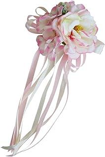 e2318ab95 P Prettyia Artificial Flor Coche Banquete de Boda Manija Espejo Puerta Cinta  Kit de Decoración Adorno