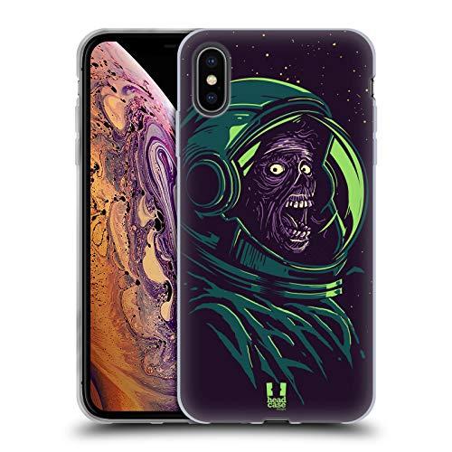 Head Case Designs Espacio Zombis Carcasa de Gel de Silicona Compatible con Apple iPhone XS MAX