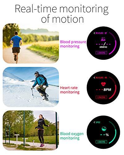 Smartwatch Fashion para Hombre Mujer Impermeable Reloj Inteligente Monitores de Actividad Fitness Tracker con Monitor de… 5