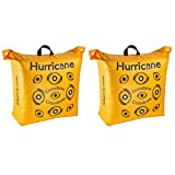 Hurricane Double Sided 460 FPS Woven Crossbow Archery Bag Target, Yellow(2 Pack)
