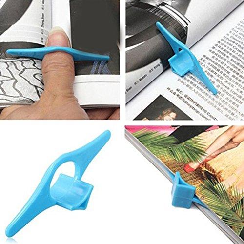 F-blue Titular Libro Pulgar Soporta marcadores Titular Marca Dedo anular Libro Book Pulgar para los Libros Escolares Stationery Office Supply