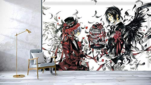 WYH-YW Fototapeten 3D Anime Wand Tapete Black Butler Wohnzimmer Schlafzimmer Büro Flur Dekoration Wandbilder Moderne Wanddeko Wallpaper 150cmx105cm(W×H)