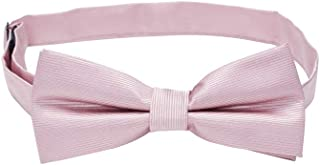 Connor Men's Plain Bow Tie Pink 1 Fit Sizes XS-5XL for Going Out Smart Occasionwear Formal