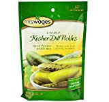 Mrs. Wages Kosher Dill Pickle Canning Seasoning Mix, 6.5 Oz. Pouch (Pack of 4)