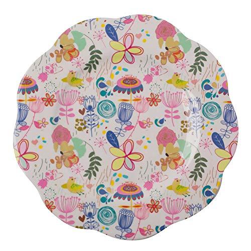 Overbeck and Friends Poppy Assiette en mélamine Multicolore 26 cm