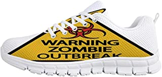 YOLIYANA Zombie Decor Sport ShoesDead Man Walking Dark Danger Scary Scene Fiction Halloween Infection Picture Sneakers for Girls Womens,US 5