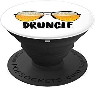 Druncle Drunk Uncle | Cute Craft Beer Drinkers Funny Gift PopSockets Grip and Stand for Phones and Tablets