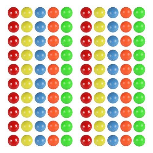 NUOBESTY 100 unids colorido mini bolas de plástico aprendizaje conteo bolas educativo cuentas matemáticas herramienta niño juguetes 15mm