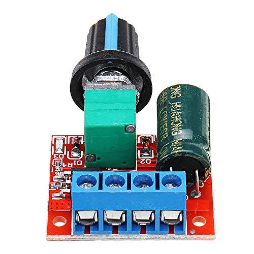 SHANG-JUN Fácil de Montar Mini DC Motor Speed Controller Module Regulador de Velocidad Modulador de luz Ajustable Interruptor electrónico Tablero de módulo DC 5V a DC 35V 5A 90W Conveniente