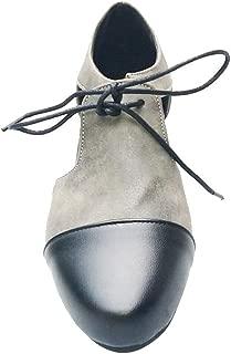 ACHICOO Women Low Heeled Round Head Lacing Sandals