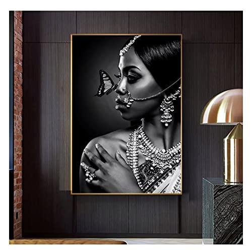AZTeam Schöne Frau Poster Drucke Malerei Leinwand Afrikanische Braut Poster Wandkunst Figur Bilder Für Wohnzimmer...