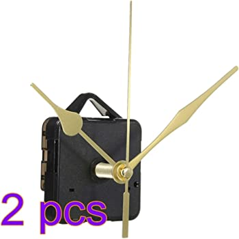 DOITOOL 2 Pezzi Meccanismo Orologio al Quarzo silenzios meccanismo di Movimento per Orologio Kit di movimenti per Orologi da Parete con 3 lancette per