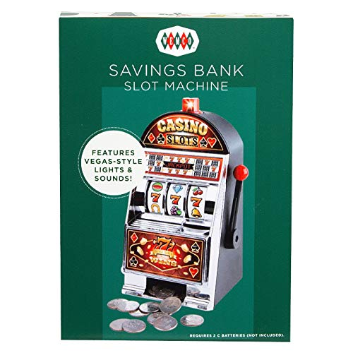 Wemco Decorative Coin Bank Slot Machine with Las Vegas Style Lights and Sounds