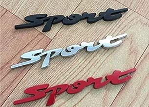 Car Styling Door Trunk Window Sport Emblem Fender Trim Kit 2 Pieces (CHROME)