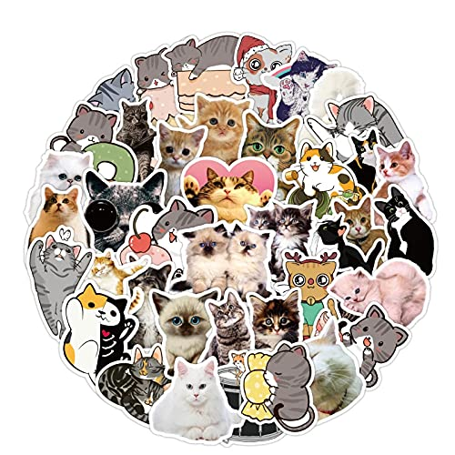 WYZDGTD 50 Uds / 2 Juegos De Pegatinas De Animales Bonitos para Ordenador Portátil, Guitarra, Equipaje, Nevera, Monopatín, Pegatina De Grafiti Impermeable, Calcomanía, Juguetes para Chico