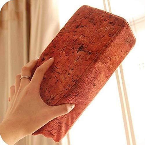 Yener 1PCS Realistic brick brick nap pillow plush toy prank joke Funny toys office men and women gifts,Slab