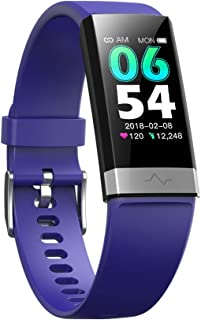 V19 HR ECG + PPG Dual Heart Rate Monitor Fitness Activity Tracker Health Smart Watch with HRV SpO2 Blood Oxygen & Pressure Sleep Monitor IP68 Waterproof HD IPS Color Screen Long Battery Life (Bluet)