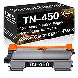 Nozaya Compatible Toner Cartridge Replacement for Brother TN450 TN-450 TN420 TN-420 Toners use for Brother DCP-7060D DCP-7065DN HL-2270DW HL-2275DW HL-2240D MFC-7360N MFC-7365DN Printer (High Yield)