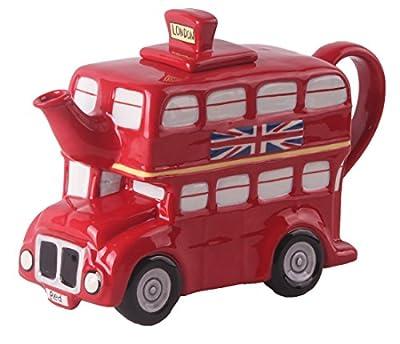 Blue Sky Ceramic London Bus Teapot, Multicolor