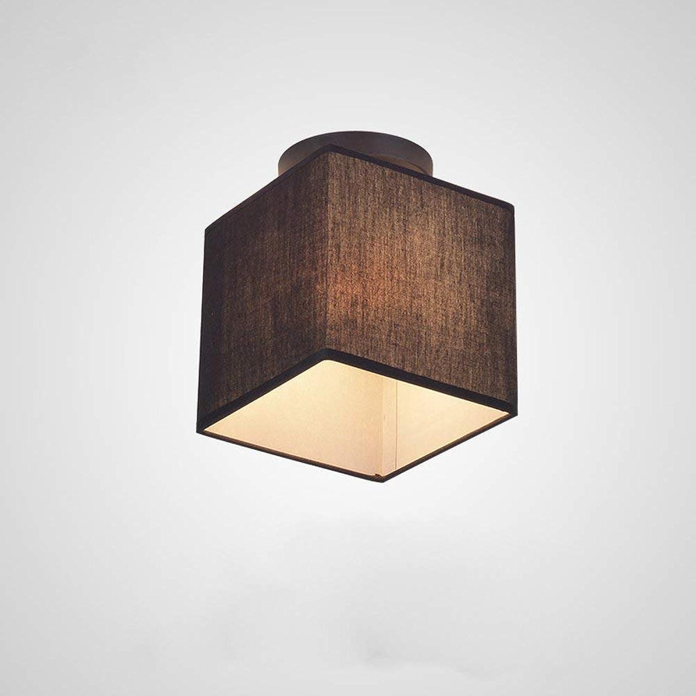 BOSSLV Stoff Deckenleuchte Moderne Deckenleuchte Flur Licht E27 Rechteckig