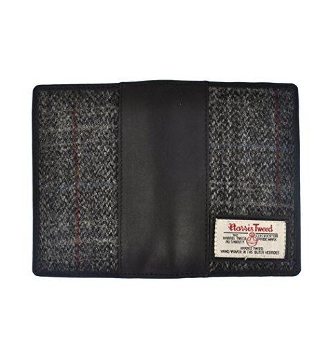 British Bag Co Grey Harris Tweed Passport Wallet