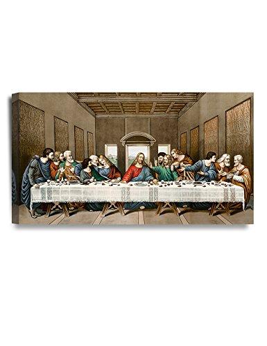"DecorArts -The Last Supper, Leonardo da Vinci Classic Art Reproductions. Giclee Canvas Prints Wall Art for Home Decor 32x18x1.5"""