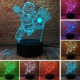 Veilleuses 3D Veilleuses Colorées Toucher Usb Marvel Film Légendes Amour Dieux...