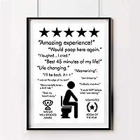 ZYQYQ白黒バスルーム見積もりサインプリントポスター体験トイレアートキャンバス絵画バスルーム室内装飾40x60cmフレームなし