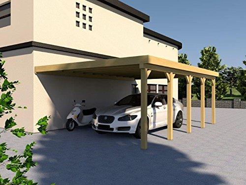 Anlehncarport Carport EIFEL X 500x800cm Bausatz, Anlehn Carport