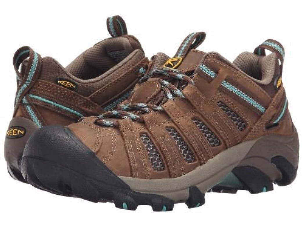 うめき電話それるKeen(キーン) レディース 女性用 シューズ 靴 スニーカー 運動靴 Voyageur - Dark Earth/Lagoon [並行輸入品]