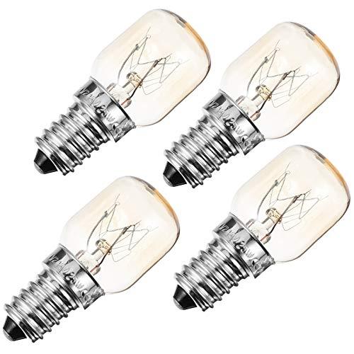 SOLUSTRE 4 bombillas de cristal para horno, 25 W, para horno, horno, horno, frigorífico, microondas E14