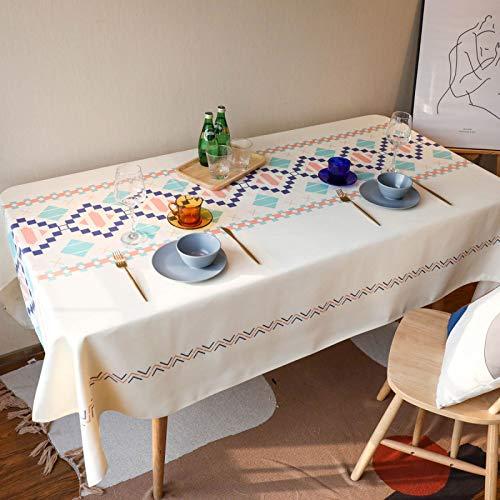 Mantel De Tela De Poliéster Impermeable Pequeña Mesa De Centro Resistente Al Calor Jardín Fresco Y Fácil De Limpiar Mesa De Comedor Mesa De Centro De Oficina Mantel Simple 60x60cm(WxH) B