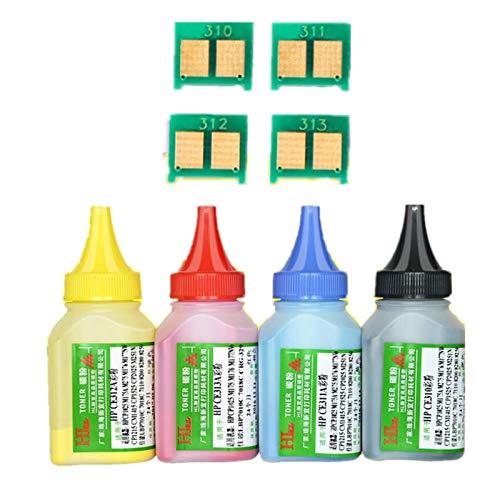 WSCHENG 4 Color Toner Powder + 4Chip CRG-329 CRG-729 CRG 329 Cartucho de tóner para Canon LBP 7010C 7018C LBP-7010C LBP-7018C Impresora láser LBP-7018C