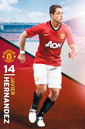 gb England Manchester United Javier Hernandez (2012-2013 Season) Football Soccer Player Sports Fan Poster Print 24x36
