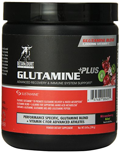 Betancourt Nutrition Glutamine Plus (240 g) Strawberry Kiwi 1-pack zonder pand (1 x 240 gram)