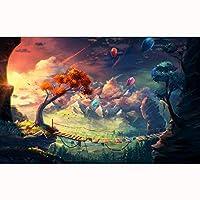 子供のための漫画アニメパズル300/500/1000/1500ピースティーンブレインインテリジェンスゲームおもちゃギフト(Size:1000PCS)