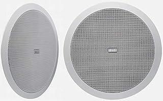 Coppia diffusori da incasso nel controsoffitto due vie HiFi Diametro esterno 230 mm. foro da praticare 200 mm. Profondità minima 10 cm. peso 1,4 kg. Risposta in frequenza: 50 - 22000 Hz Sensibilità: 92 dB (2.83 V / 1 m) Potenza consigliata: da 20 a 6...